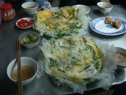 Bánh khoái tép Thanh Hóa