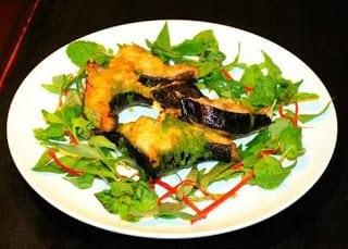 Cá chình nướng muối ớt xanh