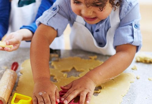 A guide to cookery skills by age 3