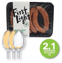 How much saturated fat is in your sausages?