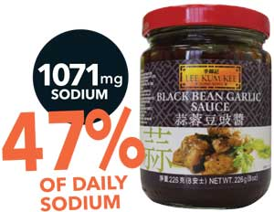 How much sodium is in that Asian sauce?