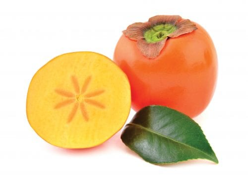 In season early winter: Persimmons, red cabbage, yams