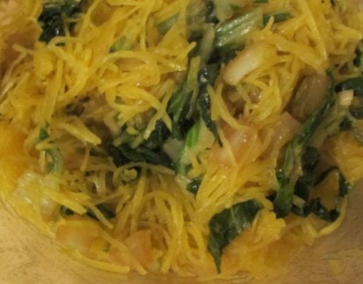 Low-Carb Spaghetti Squash Salad with Bok Choy
