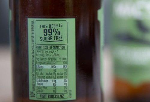Nutrition labels for Kiwi beer 1