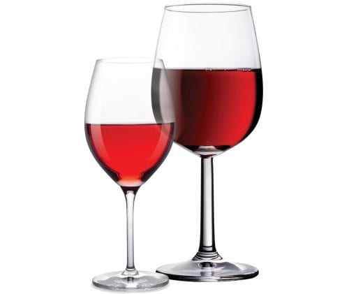 Wine glass size on the rise