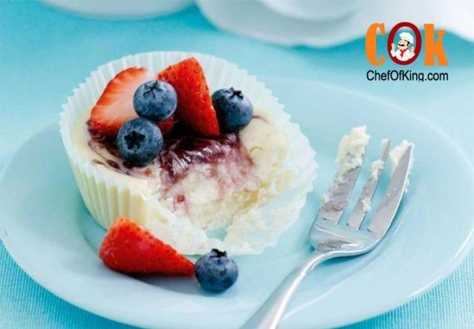Berry swirl cheesecakes recipe