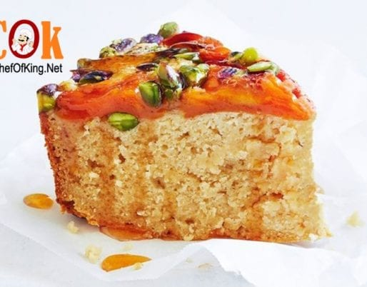 Nectarine cake with honey syrup recipe