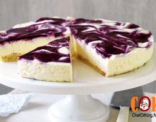 Reduced-fat berry swirl cheesecake recipe