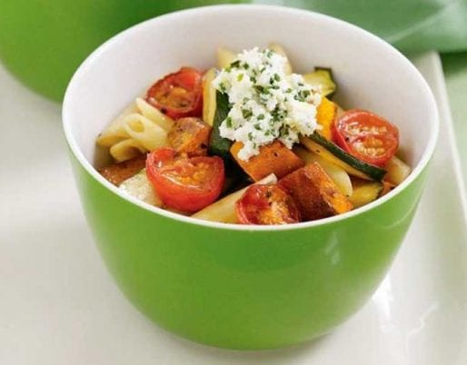 penne-with-roast-vegetables-herbed-ricotta
