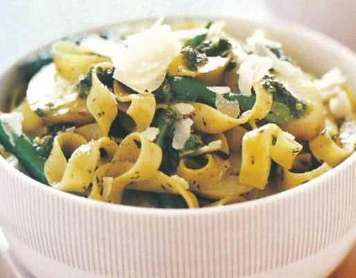 pesto-potato-bean-fettuccine-genoa-region-liguria