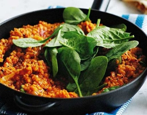 red-lentil-dhal-spinach
