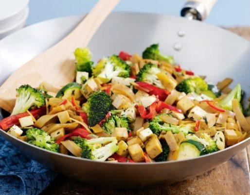 tofu-vegetable-rice-noodle-stir-fry