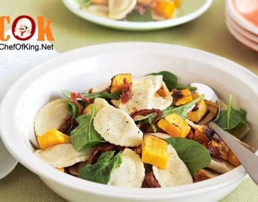 agnolotti-pumpkin-spinach-salad