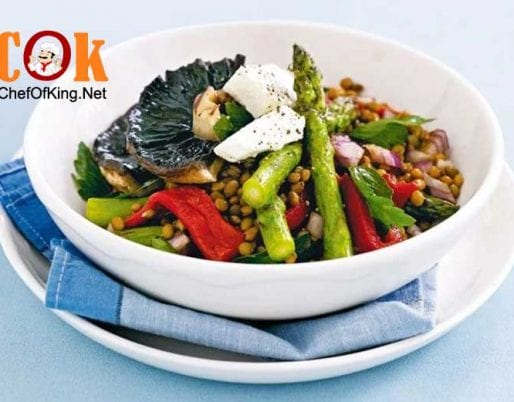 lentil-salad-chargrilled-mushrooms-asparagus