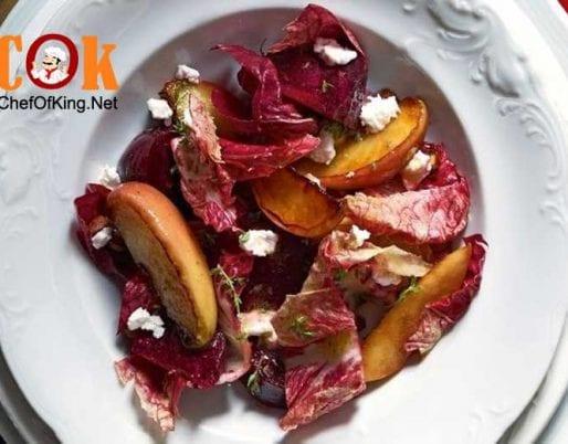 salad-beetroot-eschalot-sauteed-apple-goats-cheese