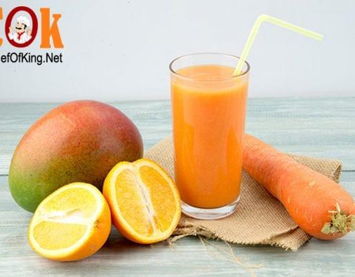 Sinh tố cam – xoài – cà rốt 3