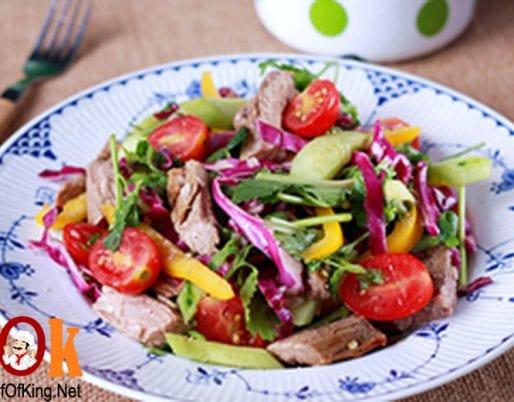 Salad thịt bò kiểu Thái 8