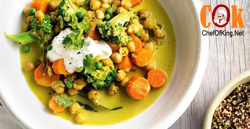 Chickpea, vegetable and coconut curry recipe