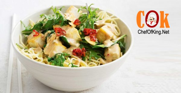 Crispy tofu and kale stir-fry 1