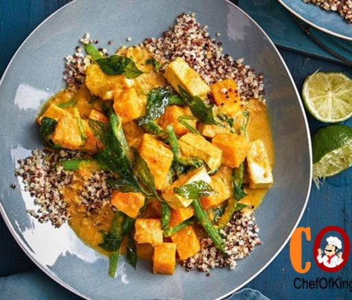Healthy pumpkin and tofu coconut curry recipe
