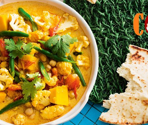 Creamy chickpea and vegetable curry recipe
