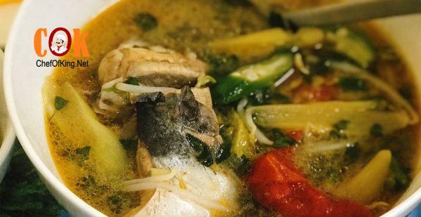Canh chua bạc hà nấu cá chim trắng 1